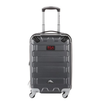 silver tsa approved hardcover rolling luggage
